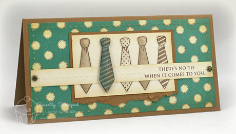 Boys will be boys just give me stamps my dh does not have many ties cowboys usually dont lol but my father in law does i created this card for his upcoming birthday bookmarktalkfo Choice Image