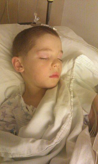 Bryan after surgery