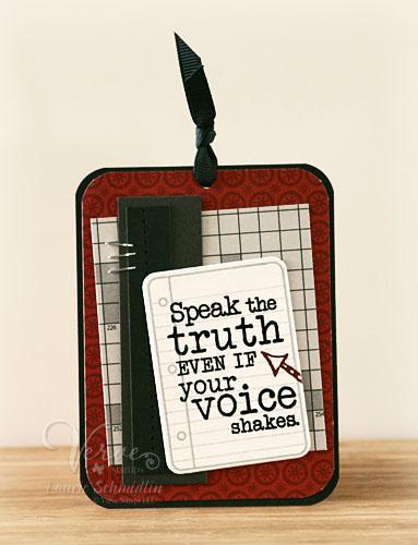 VS Speak the Truth Bookmark