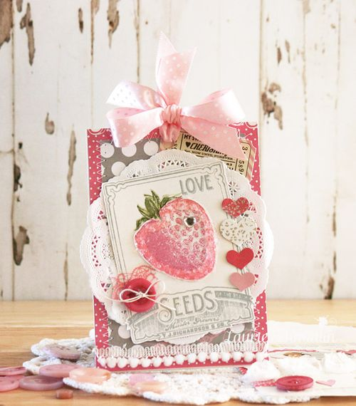 Strawberry Love (Card) by Laurie Schmidlin