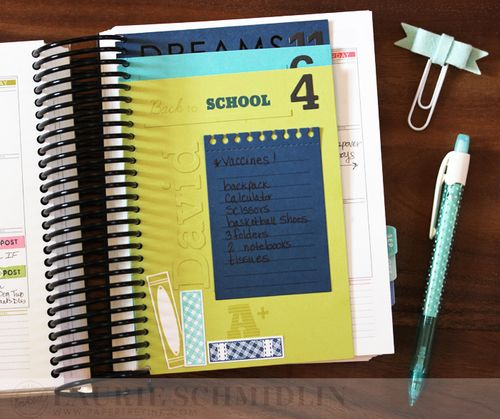 School Planner Lists2 by Laurie Schmidlin