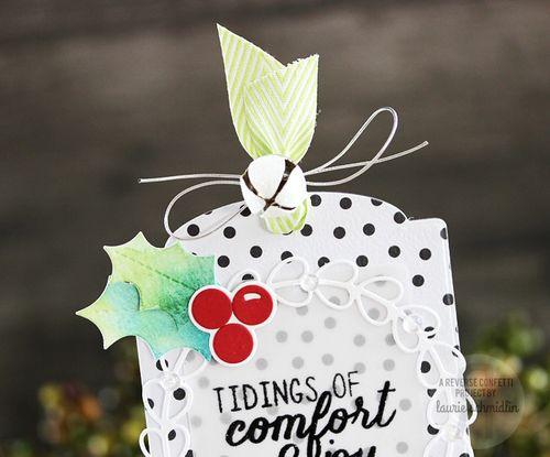 Comfort & Joy Tag (Detail) by Laurie Schmidlin
