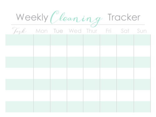 Weekly Cleaning Tracker
