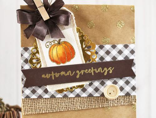 Autumn Mini Card Set (peek) by Laurie Schmidlin