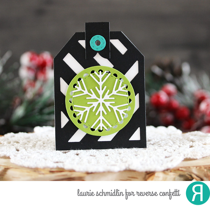 2 Way Snowflake Tag by Laurie Schmidlin