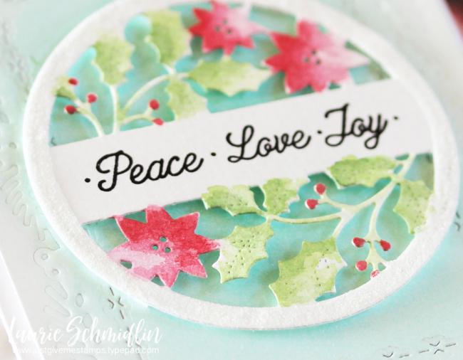 Peace Love Joy (detail 2) by Laurie Schmidlin