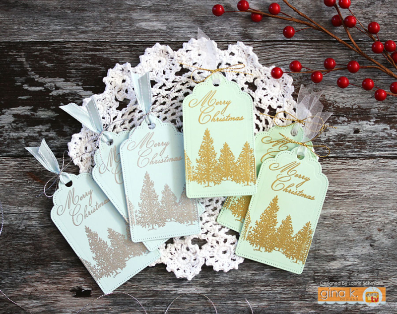 Christmas Tag Set by Laurie Schmidlin