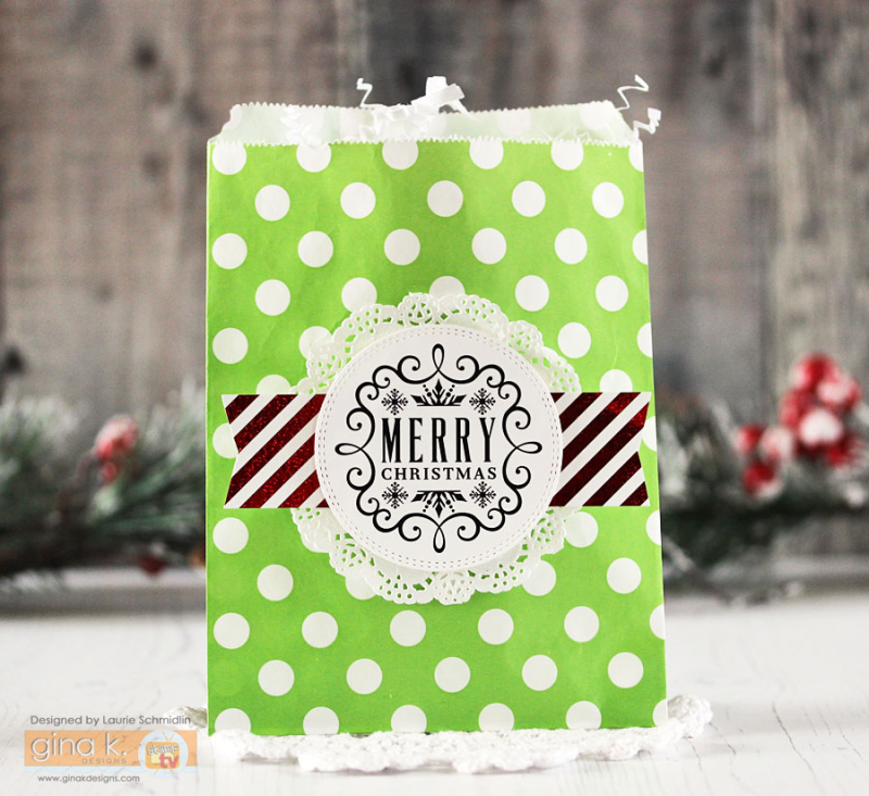 Merry Christmas Gift Bag by Laurie Schmidlin