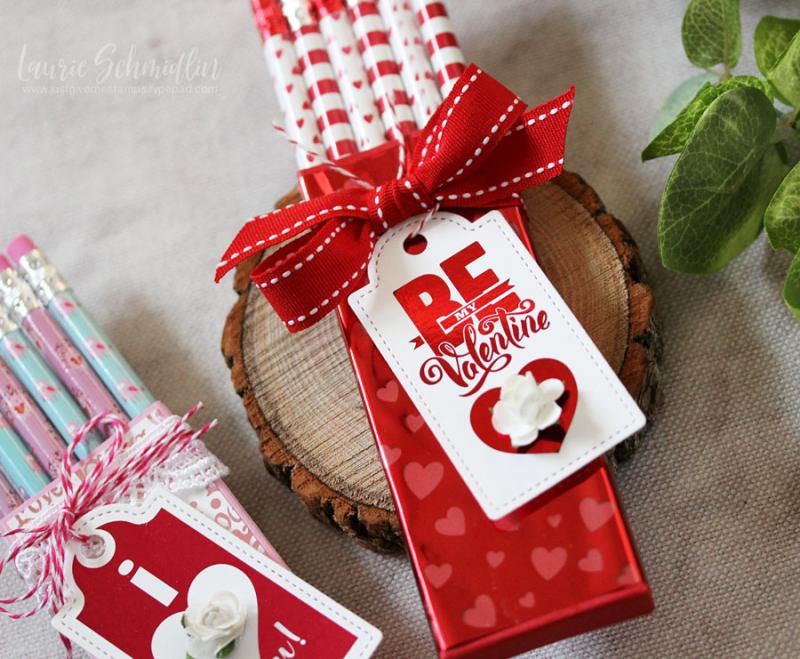 Valentine's Foil Mates Pencil Boxes 2 by Laurie Schmidlin