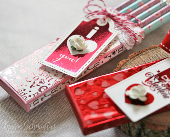 Valentine's Foil Mates Pencil Boxes 4 by Laurie Schmidlin