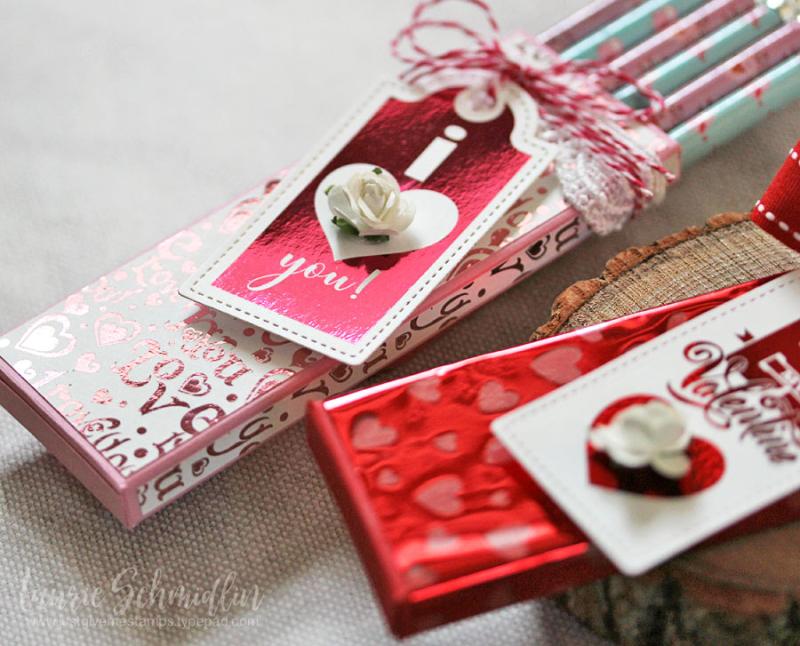 Valentine's Foil Mates Pencil Boxes 4 by Laurie Schmidlin