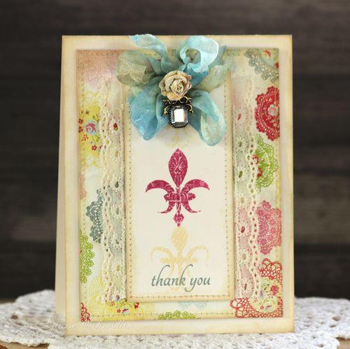 Fleur de Lis Thank You by Laurie Schmidlin