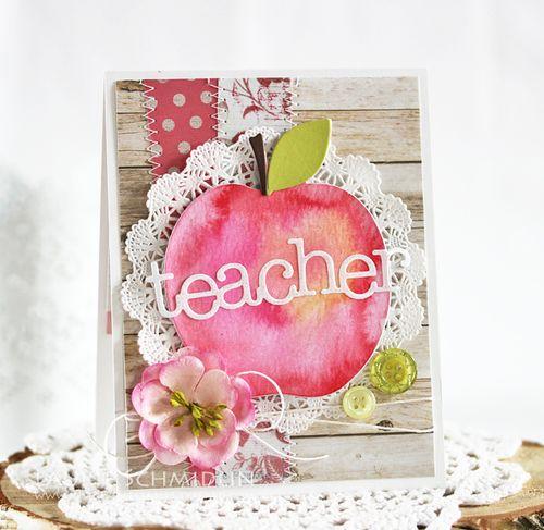 Watercolored Teacher Card