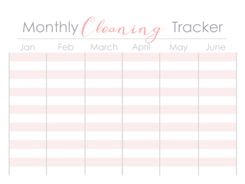 Monthly Cleaning Tracker 1