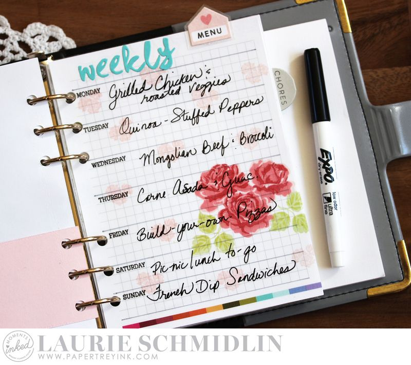 Weekly Menu 6 by Laurie Schmidlin
