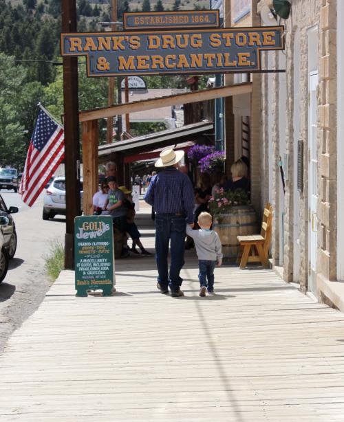 Dad and Luke - Virginia City 2016