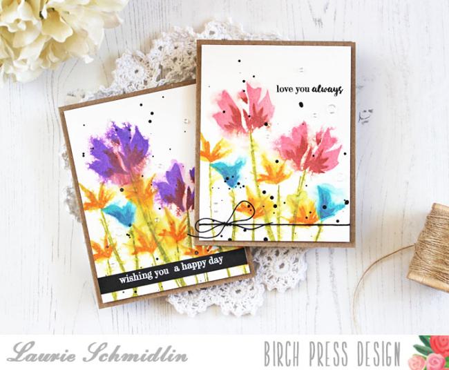 Watercolor Wildflowers by Laurie Schmidlin