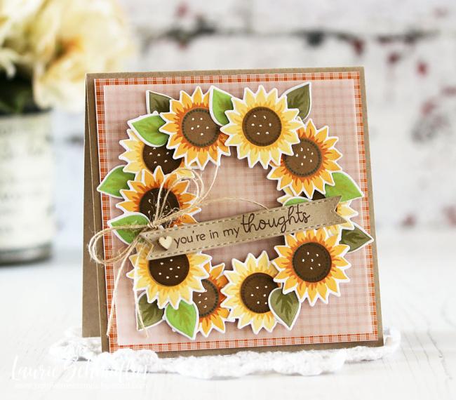 Sunflower Wreath by Laurie Schmidlin
