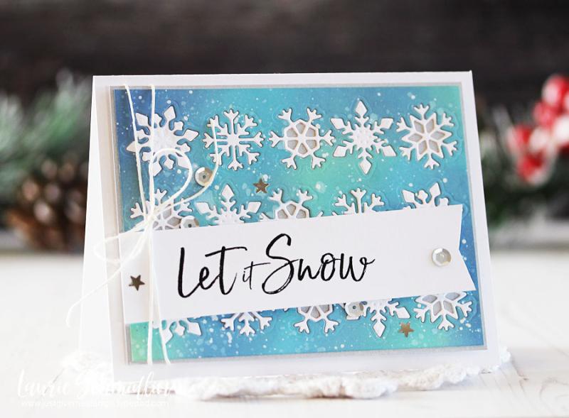 Spellbinders - Let It Snow by Laurie Schmidlin