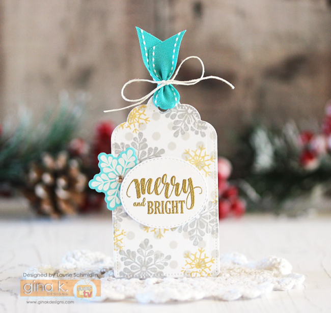 MIUM Merry and Bright Tag by Laurie Schmidlin