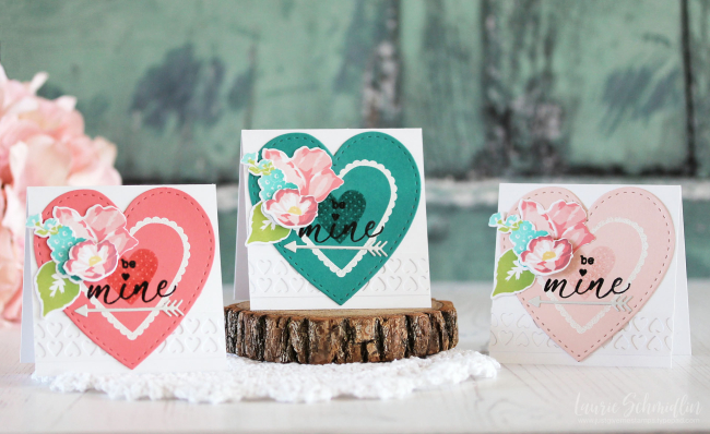 Be Mine Card Trio by Laurie Schmidlin