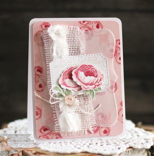 Vintage Pink Roses by Laurie Schmidlin