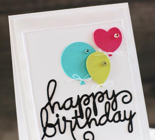 Laurie - Happy Birthday Word Die (Detail)