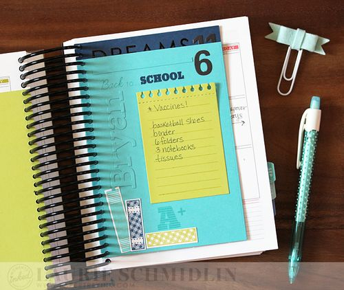 School Planner Lists3 by Laurie Schmidlin