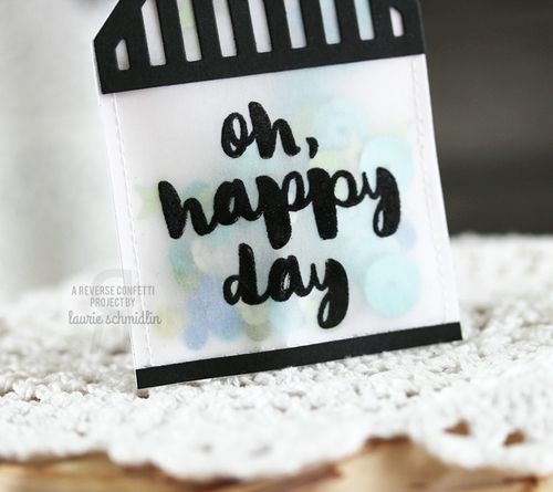 Oh Happy Day Tag (Detail) by Laurie Schmidlin