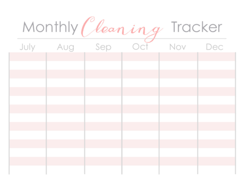 Monthly Cleaning Tracker 2