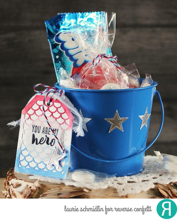 Hero Gift Bucket by Laurie Schmidlin
