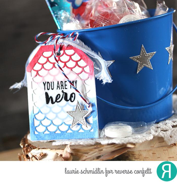 Hero Gift Bucket (detail 2) by Laurie Schmidlin