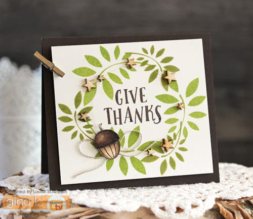 Give Thanks Wreath by Laurie Schmidlin