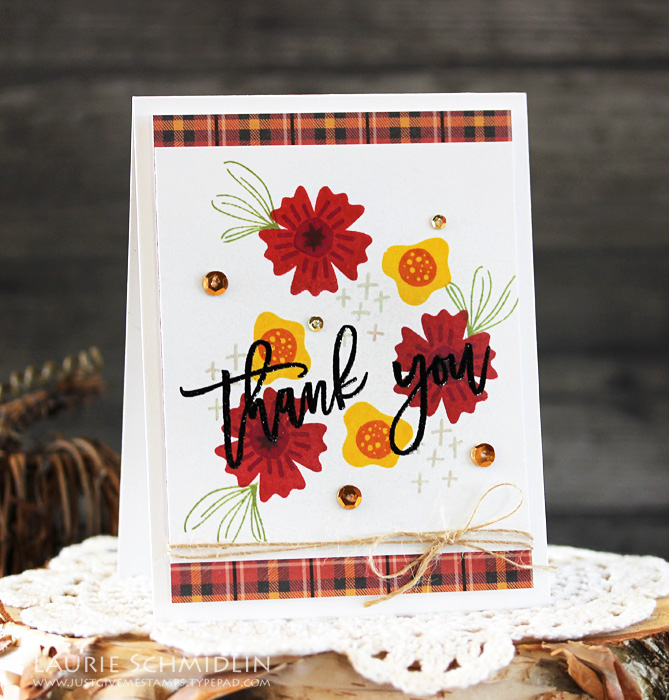 Fall Floral Thank You by Laurie Schmidlin copy