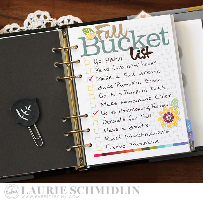 Fall Bucket Llist by Laurie Schmidlin