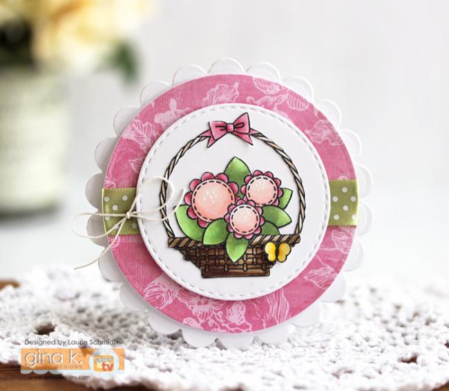 Basket of Spring Flowers by Laurie Schmidlin