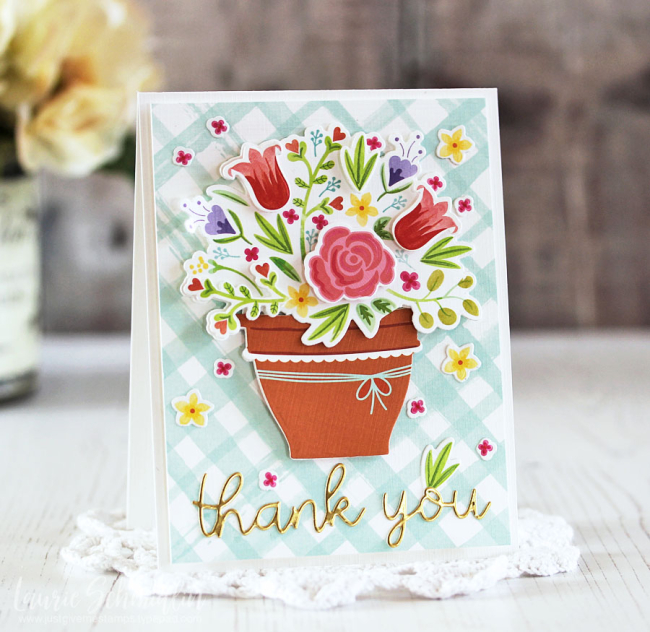 Blooming Thank You by Laurie Schmidlin