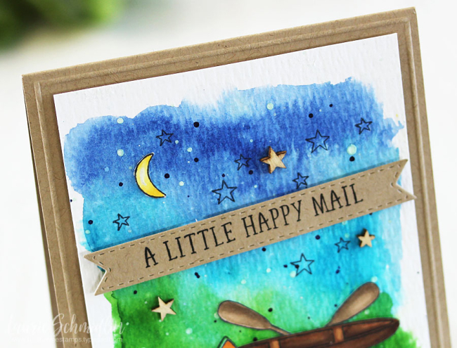 A Little Happy Mail (detail 1) by Laurie Schmidlin