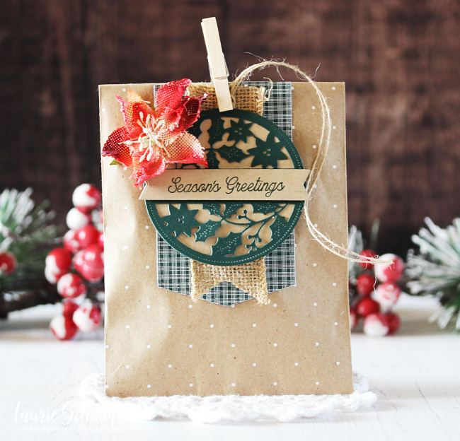 Season's Greetings Gift Bag by Laurie Schmidlin