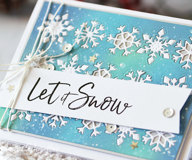 Spellbinders - Let It Snow (detail) by Laurie Schmidlin