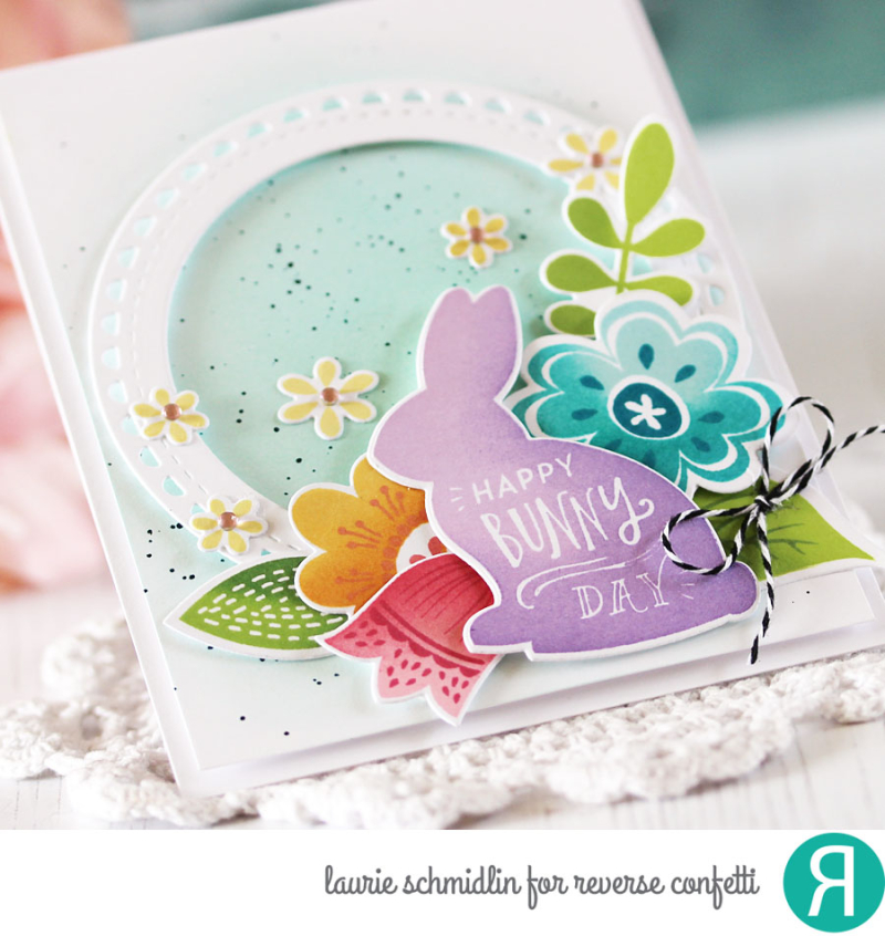 Happy Bunny Day Gift Set (Card detail) by Laurie Schmidlin