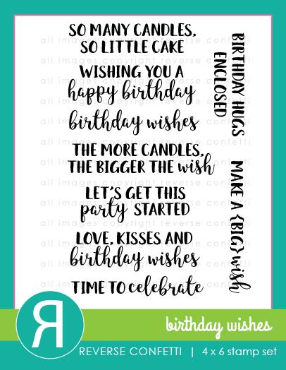 BirthdayWishesStampSet