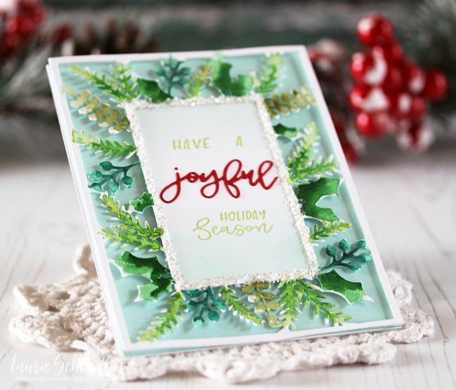 Joyful Holiday Season (detail 2) by Laurie Schmidlin