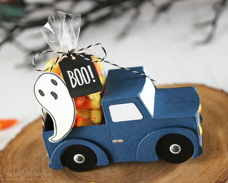 Little Blue Truck (detail 1) by Laurie Schmidlin