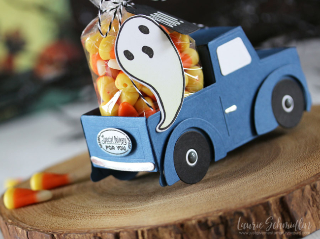 Little Blue Truck (detail 3) by Laurie Schmidlin