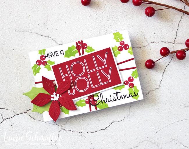 Holly Jolly Gift Holder by Laurie Schmidlin