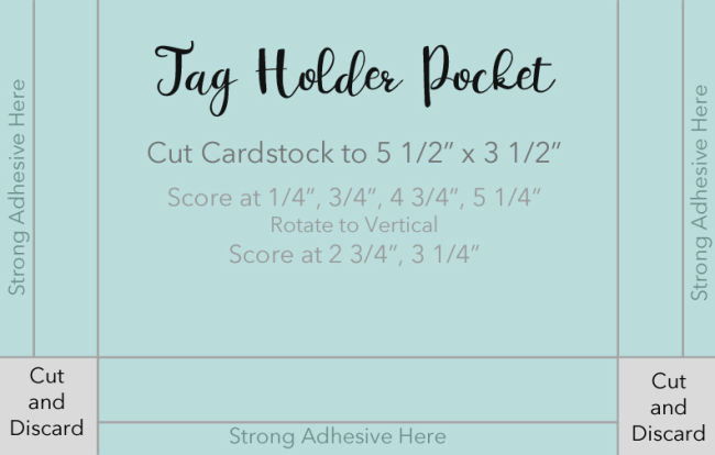 Tag Holder Pocket by Laurie Schmidlin