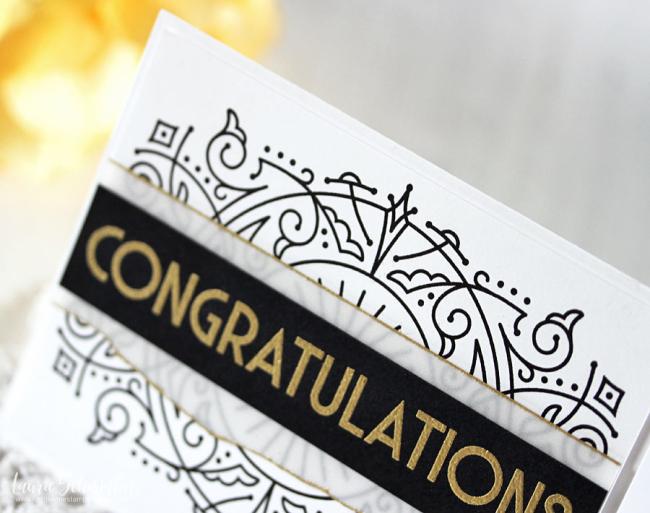 Deco Congrats (detail 1) by Laurie Schmidlin