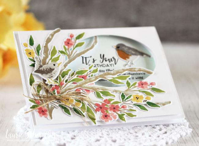 Blooming Branch (detail 1) by Laurie Schmidlin