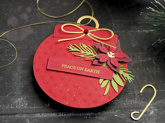 Peace on Earth Ornament (detail 1 small) by Laurie Schmidlin